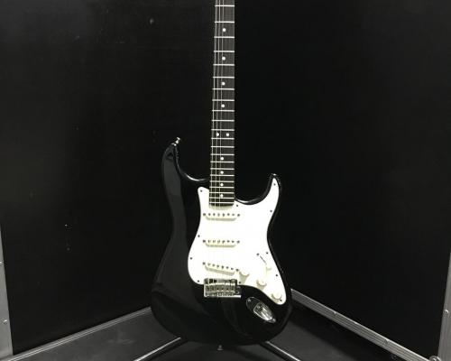 Fender Stratocaster USA Black - White (Copy)